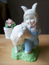 "Dept. 56 2002 Snowbabies ""Bunny's Best Friend"" Figurine - $35.00"