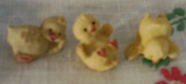 Vintage Miniature Yellow Chicks // Tiny Baby Chickens // Tumbling Chicks... - $5.00