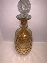 "Vintage Marigold Carnival Glass Circle Pattern Decanter 11"" - $25.00"