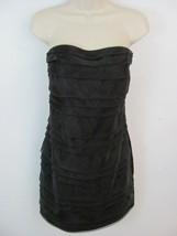 Twenty One Women's Party Dress Size S Black Strapless Ruffle Front Zip B... - $7.99