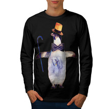 Penguin Bird Dance Funny Tee Tap Dancer Men Long Sleeve T-shirt - £11.50 GBP
