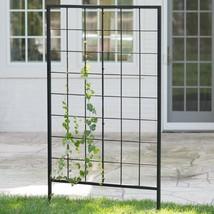 "Black Finish Metal Modern Grid 70"" Garden Trellis Outdoor Gardening Land... - $194.53"