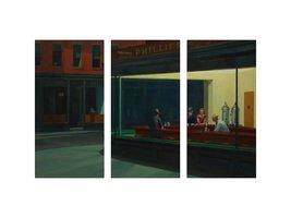 """Pingo World 0226QUJ7F7A """"Nighthawks by Edward Hopper"""" Gallery Wrapped Tr... - $128.65"""
