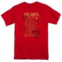 Star Trek Red Shirt Galactic Tour 2266-2269 Retro 60's sci-fi graphic tee CBS953 image 1