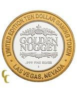 Golden Nugget Hotel Las Vegas Nv $10 Casino Gaming Token .999 Silber Lim... - $59.33
