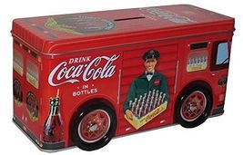 COCA-COLA Tin Truck Bank - $8.00