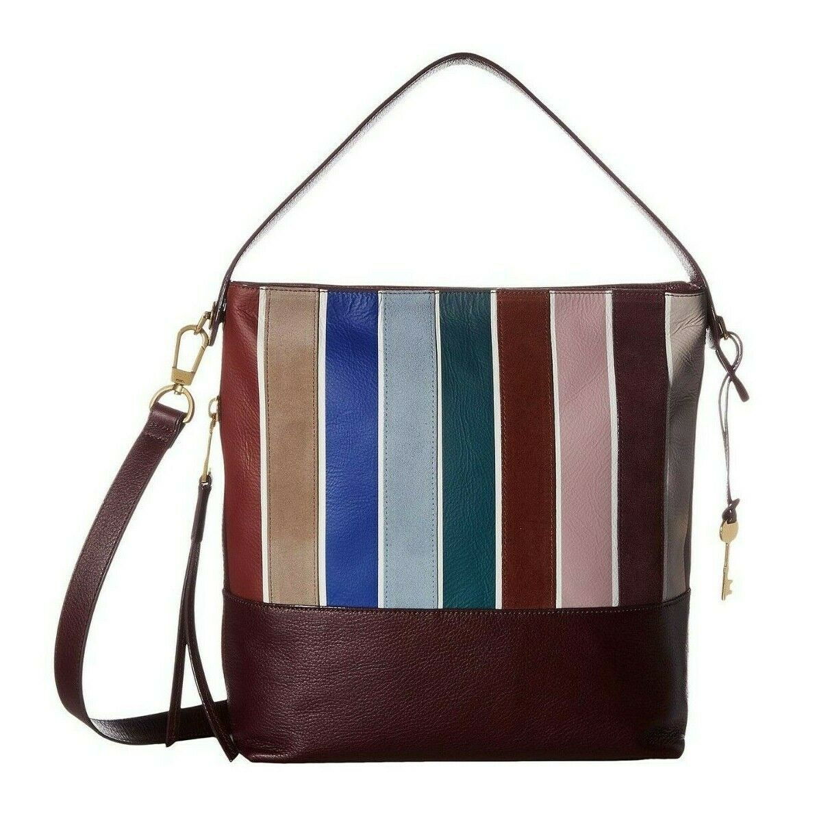 New Fossil Women's Maya Small Leather Hobo Bag Variety Colors image 2