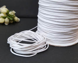 Approx 2mm wide 10 yds -350 yds White Cotton Cord String Rope Drawstring... - $5.99+