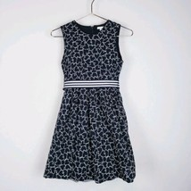 TCP The Childrens Place Dress Girls 14 Black White Heart Tulle #h - $11.88
