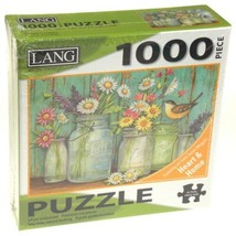 Lang 1000 Piece Jigsaw Puzzle Mason Flowers 29x20 Artwork Susan Winget A... - $10.99