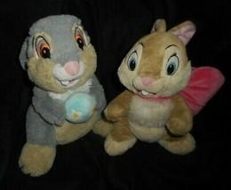 Par Disney Pascuas Thumper & Miss Conejito Lazo Rosa Peluche Plush Toy - $36.12