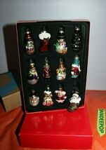 Avon Set Of 12 Glass Christmas Holiday Tree Ornaments image 4