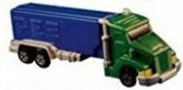 PEZ Candy Dispenser: Rigs Semi Truck: Green Truck with Chrome and Blue T... - $8.90