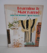 """Vintage 1978~""""Learning to Macrame"""" #MM301 Instruction Booklet for 11 Pro... - $10.95"""
