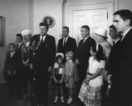 President John F. Kennedy with Astronaut Scott Carpenter and Rene New 8x... - $8.81