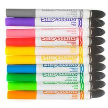 Lot of Crayola Sillyscents Sweet & Stinky Markers Green Storage Case + Stickers image 3