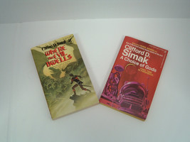 vintage sci fi Clifford D Simak 2 PB book lot A choice of Gods Where the... - $12.82