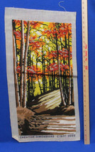 Completed Needlepoint Canvas Forest Woods Sunse... - $17.81