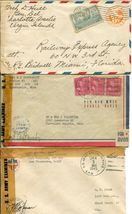 US Army Airmail WWII APO Navy Military Cover Examined Postage Collection  image 6