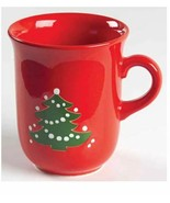 Waechtersbach Christmas Tree Red 3 7/8 in Flared Coffee Tea Mug  Green Tree - $30.88
