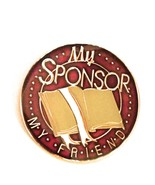 My Sponsor My Friend, AA,NA, Recovery  Burgundy Medallion, Chip  - €18,38 EUR