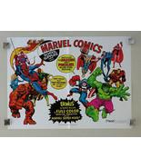 1975 Mead Marvel poster 1:Spider-man/Thor/Avengers/Hulk/Iron Man/Fantast... - $494.99