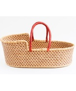 African Moses basket, Baby bassinet, Baby lounger,Wicker baby bassinet,B... - $150.00