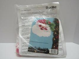 Bucilla Santa Face Coasters Craft Kit Open Kit includes Yard and instruc... - $13.85
