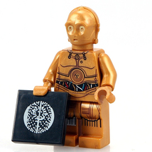 C-3PO Droid Robot Star Wars Rogue One Minifigures Custom Minifig Buildin... - $3.59