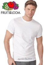 Fruit Of The Loom Men's 5 Pack  White Crew Neck T Shirt ( Small To 3 X Large ) - $13.85