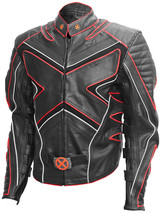 X-Men Black & Red Fashion Wolverine Leather Jacket | LJM - $219.00