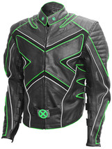 Wolverine Fashion Black & Green X-Men Leather Jacket | LJM - $219.00