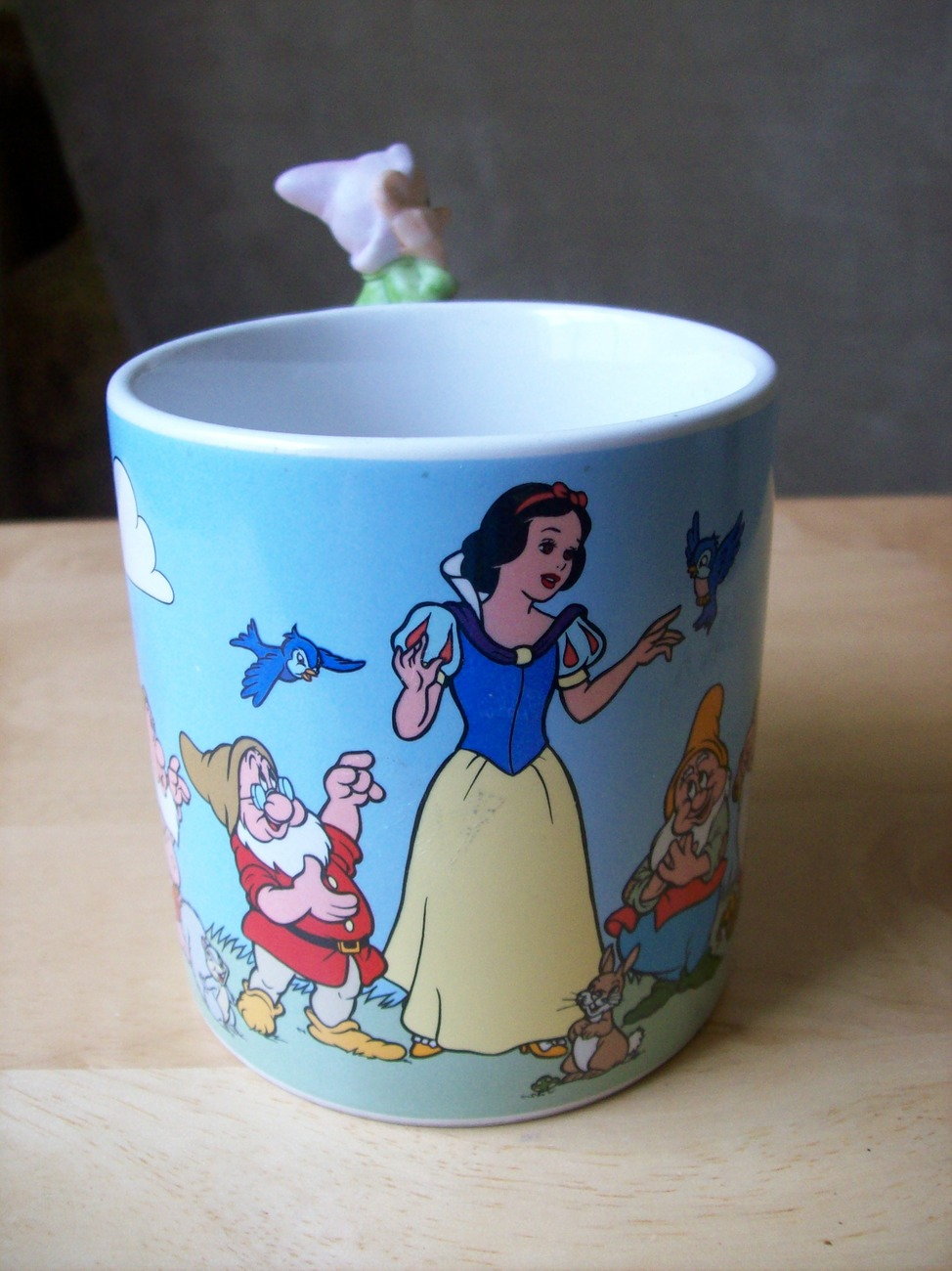 Primary image for Disney 1980's Snow White Coffee Mug with Dopey Figurine