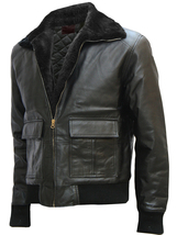Black Bomber Brad Pitt Leather Jacket | LJM - $199.99