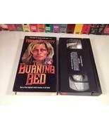 The Burning Bed 80's TV Movie VHS 1984 Farrah Fawcett Domestic Violence Drama - $13.49
