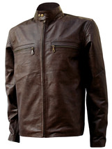 Dark Brown Biker Tom Cruise Leather Jacket | LJM - $199.99