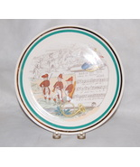 P V French Pottery Transfer Printed Hunting Song Plate - $25.00