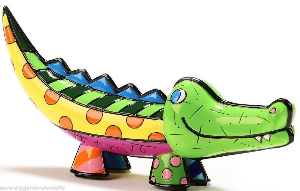 Romero Britto Crocodile Marina Collection Figurine #334200 NEW