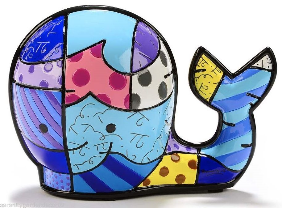 Romero Britto Whale Marina Collection Figurine #334197 NEW