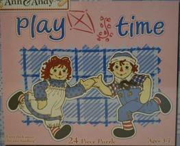 2001 Pressman Toy ~ Raggedy Ann & Andy ~ Playtime 24 Piece Puzzle ~ Sealed New - $19.95