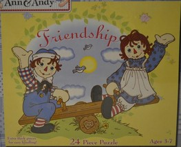 2001 Pressman Toy ~ Raggedy Ann & Andy ~ Friendship 24 Piece Puzzle ~ Sealed New - $19.95