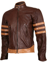 Wolverine Origins Biker Brown Vintage X-Men Leather Jacket | LJM - $199.99