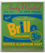Andy Warhol Brillo Screenprint 1970 Framed Pasadena Art Museum Poster JK... - $5,940.00