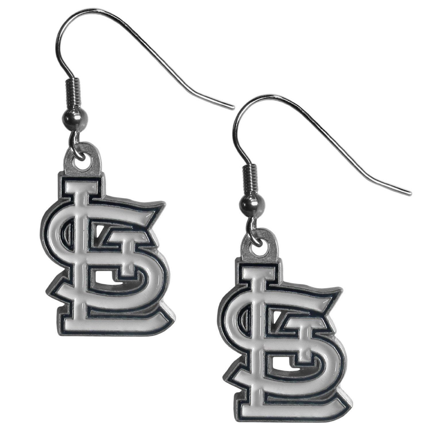 ST. LOUIS CARDINALS PAIR DANGLE EARRINGS TEAM LOGO PARTY TAILGATE MLB BASEBALL