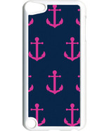 Navy Blue and Pink Anchor Design on iPod Touch 5th Gen 5G White TPU Case... - $9.46