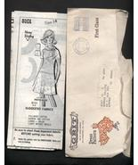 Lot 2 1970s Vintage Womans Dress Sewing Patterns Metered GRIT  - $8.99