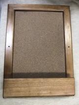 "Wood Bulletin Board Size: 12 1/8"" X 17 1/8"" X 1 7/8"" - $24.75"