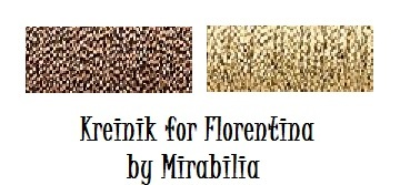FULL LINEN KIT Florentina MD138 cross stitch Mirabilia Designs