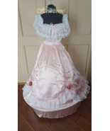 Southern Belle Victorian gown dress pink white ... - $138.00