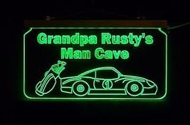 Personalized Man Cave Sign, Bar Sign, Custom LED Sign, Golf Clubs, Race Car image 3